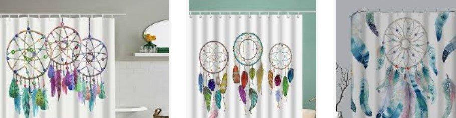 comprar cortinas para la ducha con atrapasueños