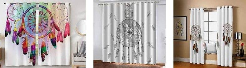 cortinas para ventanas con atrapasueños